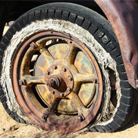 Illegal dumping of tires