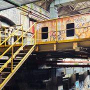 Graffiti on metro