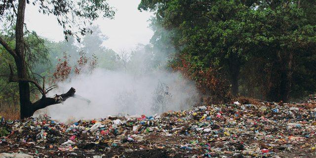 Illegal dump site